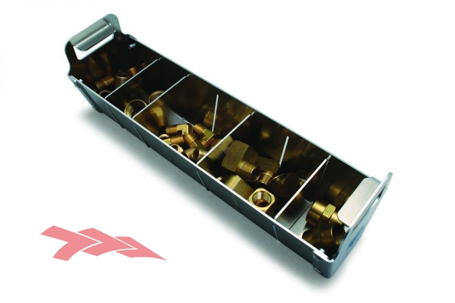Storage tray with removeable dividers