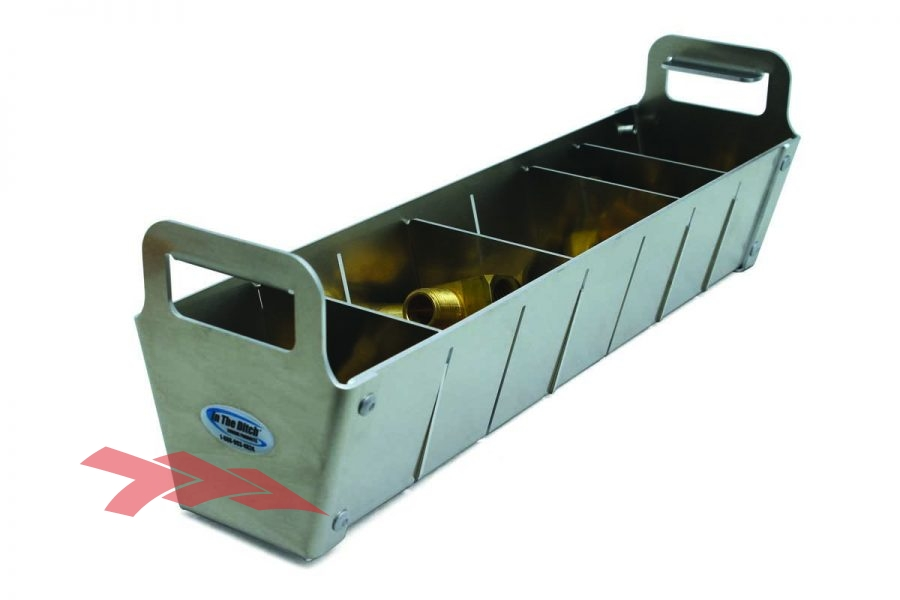 Angled Storage Tray With Removable Dividers