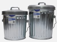 4 Gallon Galvanized Steel Trash Can